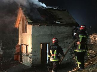 Brand in Saunahaus