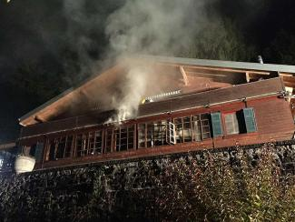 Brand in einem Chalet in Vuadens